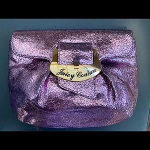 Juicy Couture Metallic Pink/Purple Clutch Handbag